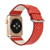 Fashion Wave Leather Strap Watch Band Apple Strap