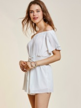 Backless Wide Legs Lace-Up Women's Jumpsuit