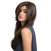 Side Sweep Long Synthetic Hair Women Capless Wig
