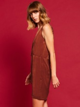 Backless Coffee Women's Day Dress