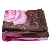 Blooming Pink Roses Cotton Luxury 4-Piece 3D Bedding Sets/Duvet Cover