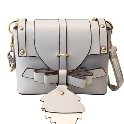 Ladylike Bowknot Decoration Cross Body Bag
