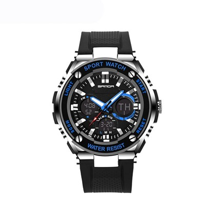 LED Luminous Display Quartz Plastic Acrylic Sports Men's Watches