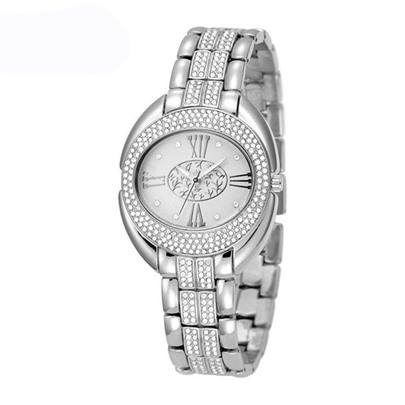 Personalized Diamante Oval Dial Watches
