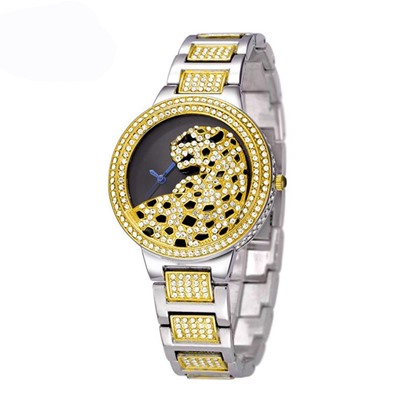 Leopard Animal Shaped Hollow Diamante Watches