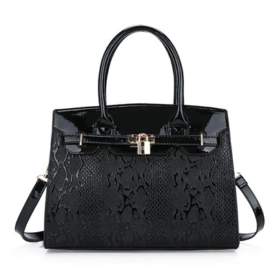Classical Lock Decoration Women Tote Bag