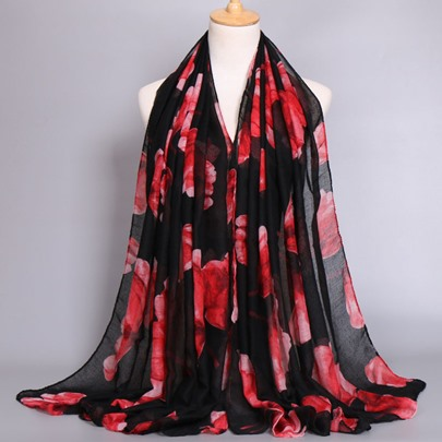 Voile Tulip Colorful Printed Scarfs