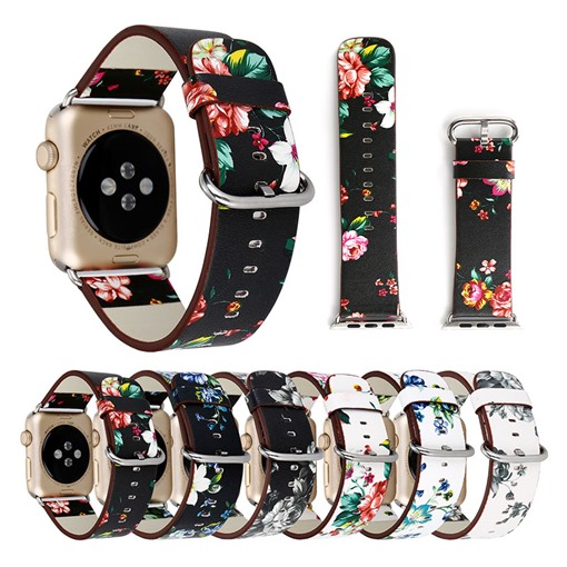 Flower Pattern Smart Watch Replacement Band for Apple iWatch Smartwatch Tech