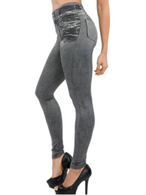 Plain Slim Jeans Like Women's Leggings