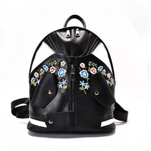 Distinctive Embroidery Mini Backpack