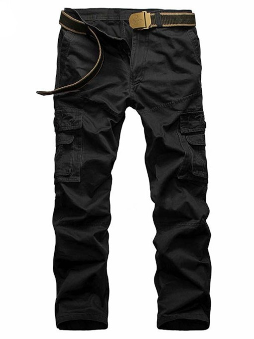 Plus-Size Korean Style Cotton Men's Causal Cargo Pants