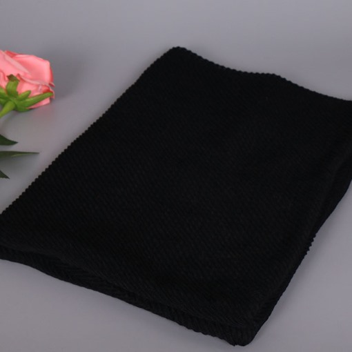 Moslem Pleated Cotton Ethnic Plain Scarfs