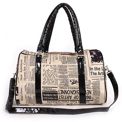 Unique Newspapers Printing Design Tote Bag
