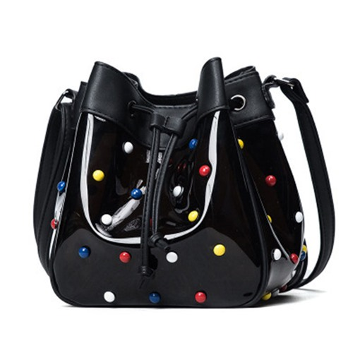Fashion Colored Rivets Bucket Cross Body Bag