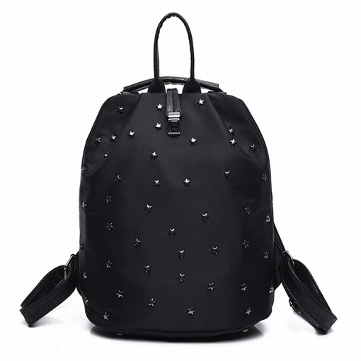 Vogue Rivets Decoration Nylon Backpack