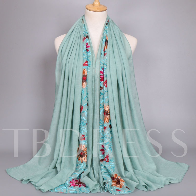 Moslem Cotton Embroidery Heronsbill Scarfs