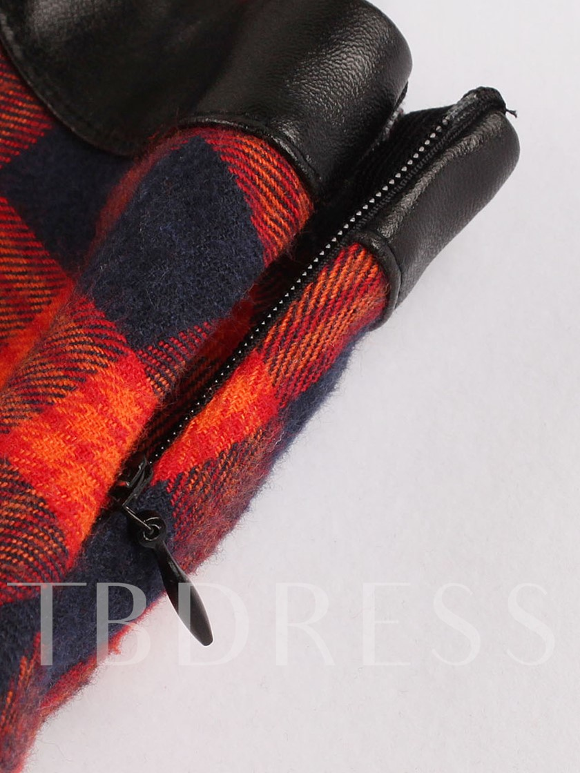 Red Plaid Double-Layered Women's Day Dress