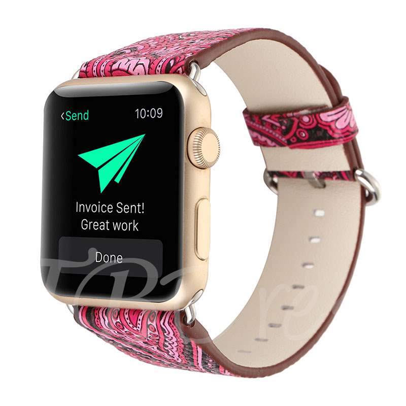 Chinese Style Floral Apple Smart Watch Band for 38mm/42mm iWatch