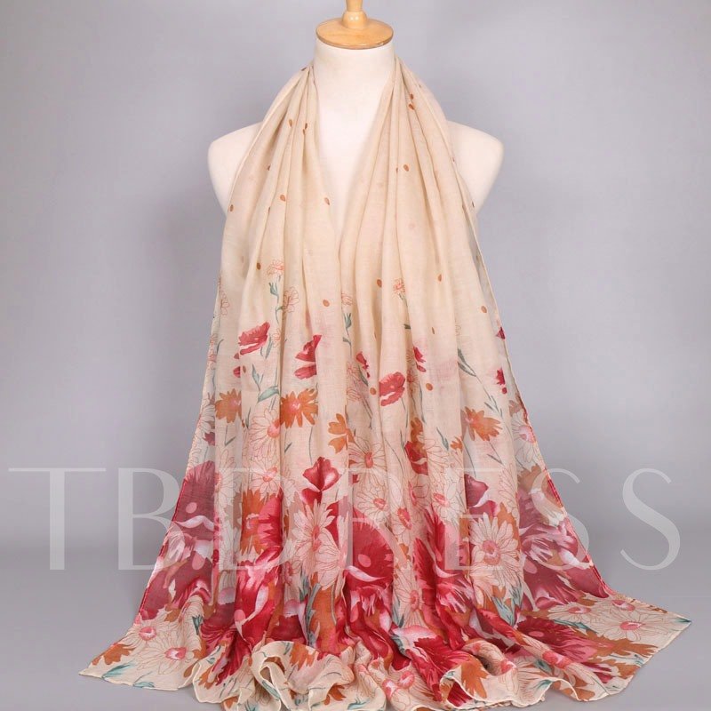 Voile Ethnic Heronsbill Printed Scarfs