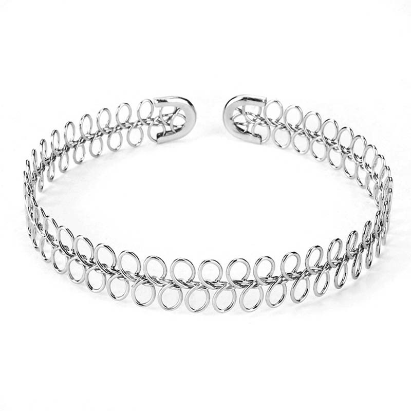 Simple Twisted Alloy Torques Choker Necklace