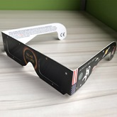 American Flag Dilated Black Solar Eclipse Glasses(Only White Color)