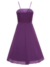 A-Line Spaghetti Straps Beading Draped Knee-Length Cocktail Dress