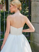 Strapless Bowknot Ball Gown Ankle-Length Wedding Dress