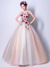 Ball Gown Embroidery Floor-Length Quinceanera Dress