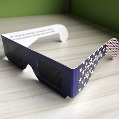 American Flag Stars&Stripes High Quality Solar Eclipse Glasses(Only White Color)
