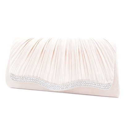 Graceful Rhinestone Decoration Evening Clutch