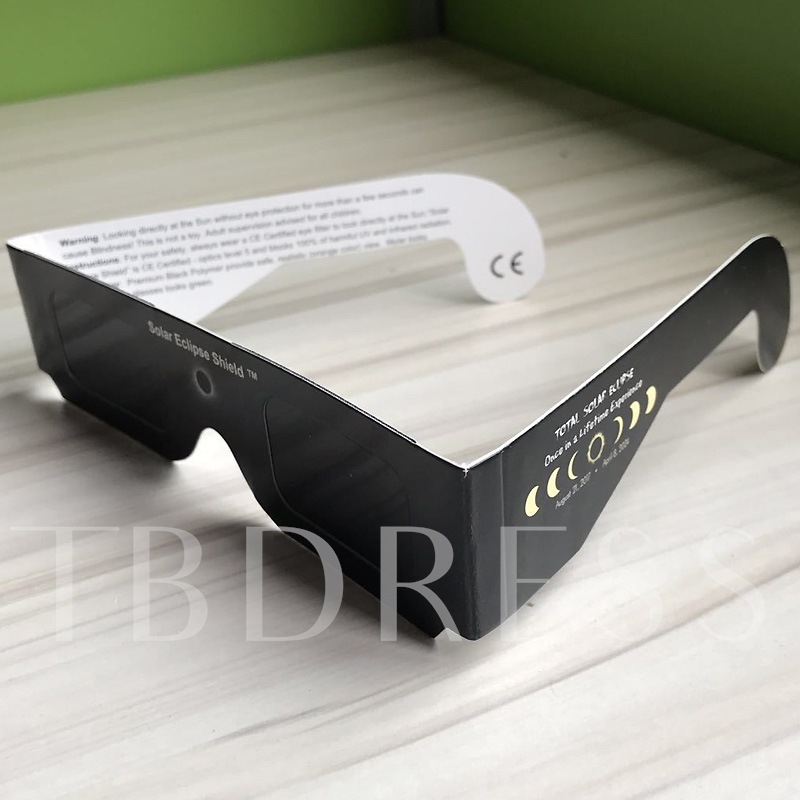 Broaden Black Solar Eclipse Glasses (Only White Color)
