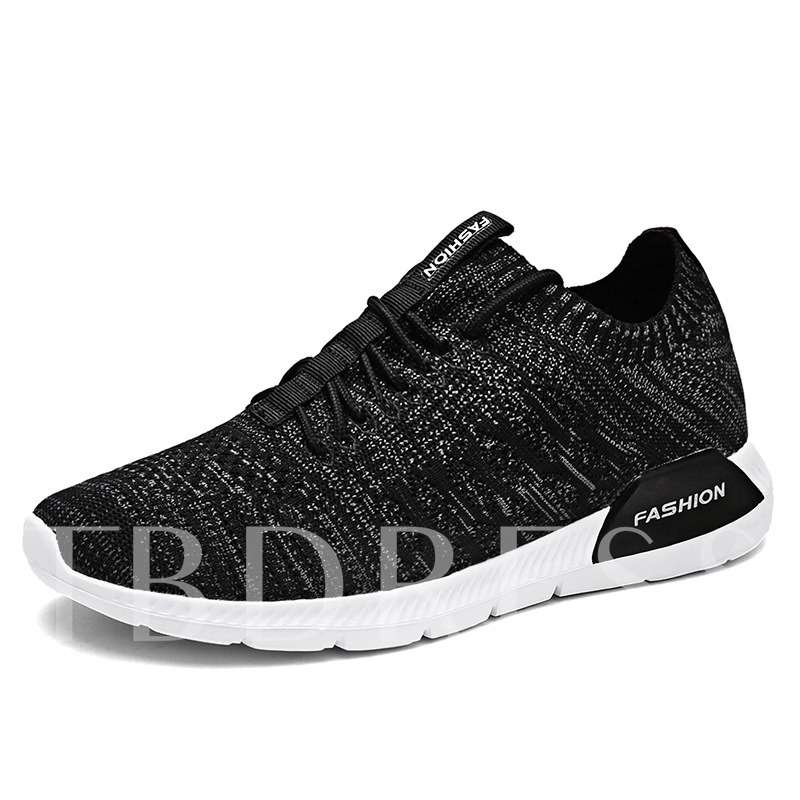 Mesh Breathable Lace-Up Color Block Lightweight Men's Athletics