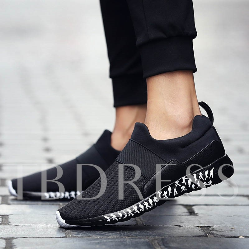 Round Toe Patchwork Casual Mesh Men's Slip-On Shoes