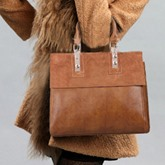 Modern Style Solid Color Women Tote