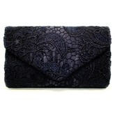 Classical Lace Pattern Envelope Evening Clutch