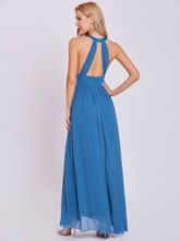 Halter Neck A Line Floor-Length Evening Dress
