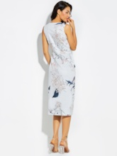 Floral Asymmetric Pleated Vacation Pullover Women's Maxi Dress