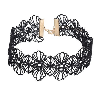 Lace Alloy Flower Shaped Korean Torques Choker Necklace