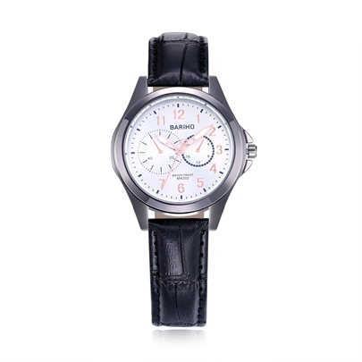 Artificial Leather Quartz Alloy Joker Men's Watches