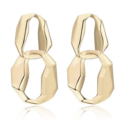 Hyperbole Twist Arm Alloy European Earrings