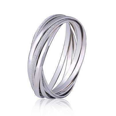 Ring Shaped Multilayer Alloy European Bracelet