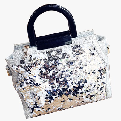 Vogue Fluorescent Sequins Design Handbag