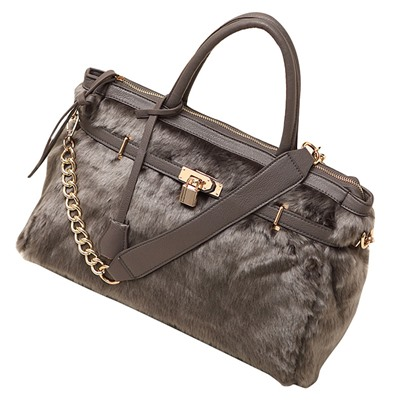 Gorgeous Plush Zipper Women Handbag
