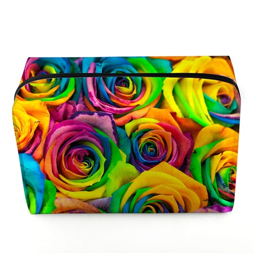 Particular 3D Floral Design Cosmetic Bag