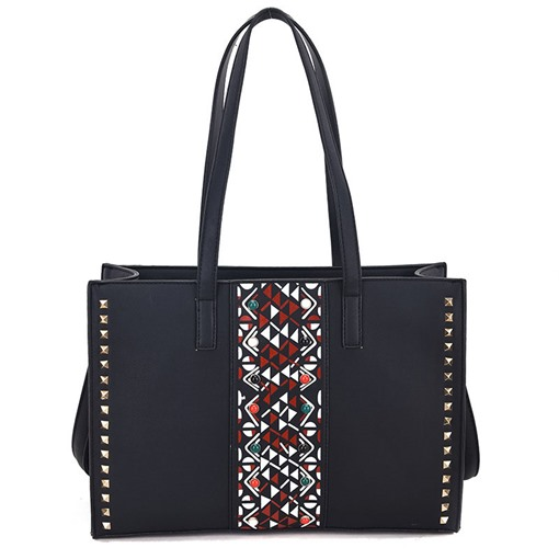 Ethnic Style Rivets Adornment PU Tote
