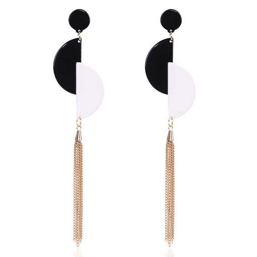 European Simple Tassel Acrylic Earrings
