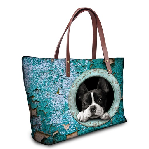 3D Pet Pattern Nylon Waterproof Handbag