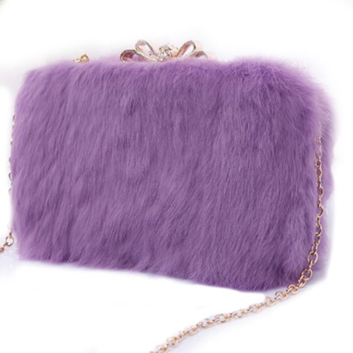 Luxurious Plush Cross Body Bag
