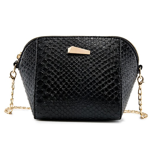 Shell Shape Croco-Embossed Chain Cross Body