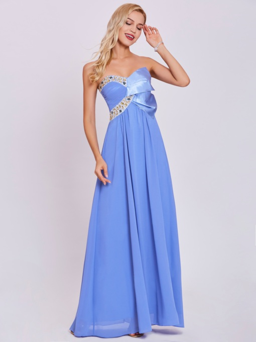 Sweetheart Beaded A Line Evening Dress